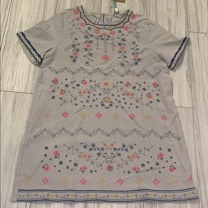 Umgee short sleeve floral embroidered dress